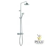Damixa душевой комплект  Dikara, термостат+верхний душ+ручной душ