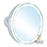 Kosmeetikapeegel iminappadega LED valgus, 5X suurrendus