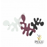 Camouflage-komplekt, mantle konks, L400xH240xP67mm, white-plum-black