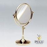 Настольное косметическое зеркало , увеличение 3X , золото
