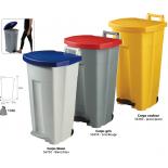 Сортировочные мусорные баки 90L большие кухни, производство HACCP Rossignol BOOGY