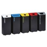 Сортировочные мусорный баки Rossignol KOLOTRI 80L свободно стоящие или закреплённые