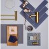 Vannitoa aksessuaarid Damixa Silhouet kroom, must, valge , kuld , vask , harjatud vask, messing