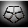 Aksessuaarid Reframe collection by Unidrain poleeritud, harjatud, messing, vask, matt must