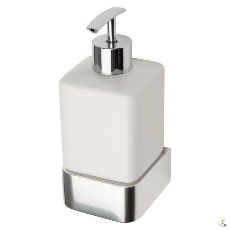 Haceka Aline дозатор для мыла с держателем металл хром