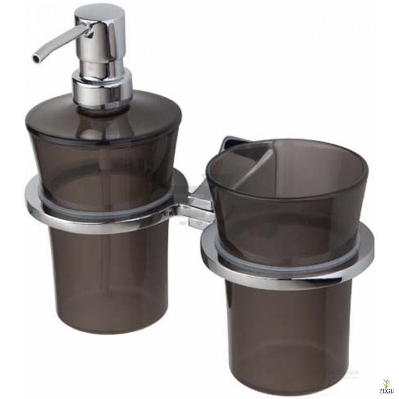 Art Deco 2-й стаканчик+дозатор для мыла, хром