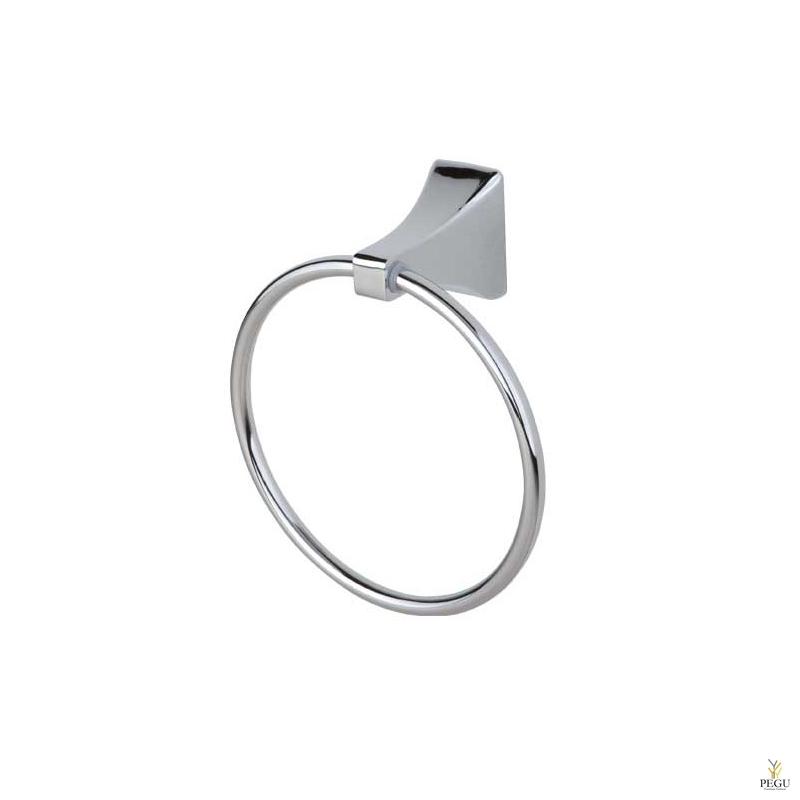 Art Deco кольцо держатель, для банного полотенца, хром