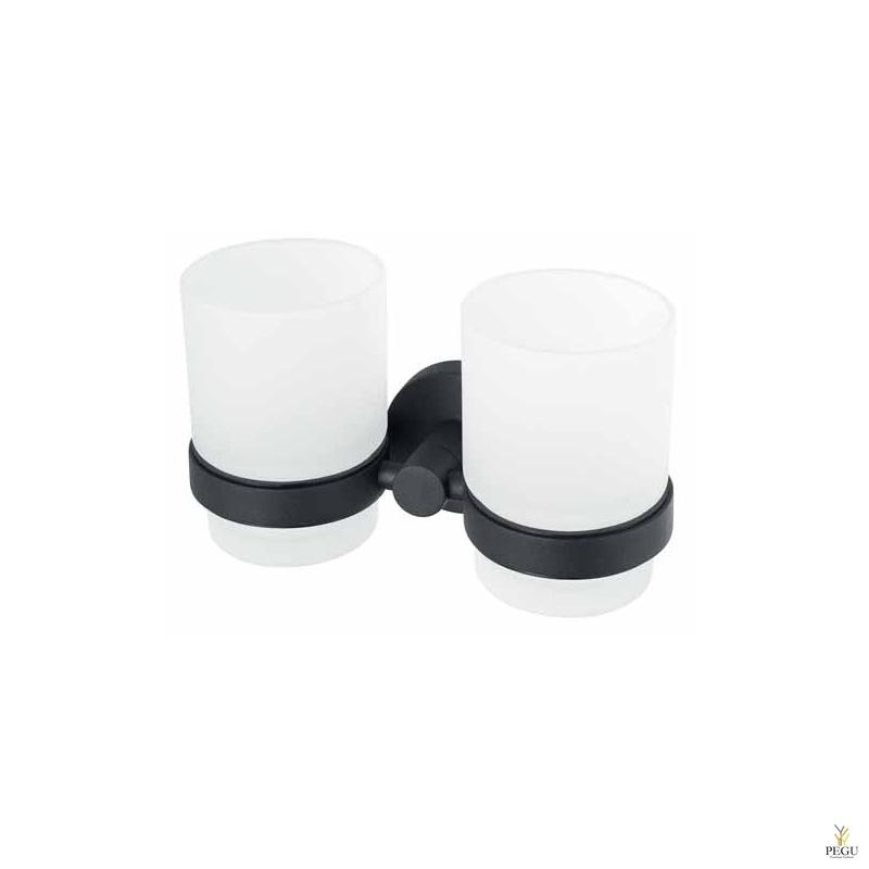 Haceka Kosmos стаканчики 2 шт с держателем, чёрный