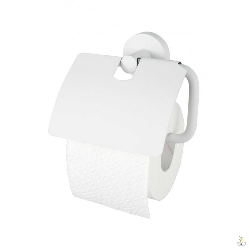 Haceka Kosmos tualettpaberihoidel kaanega, valge