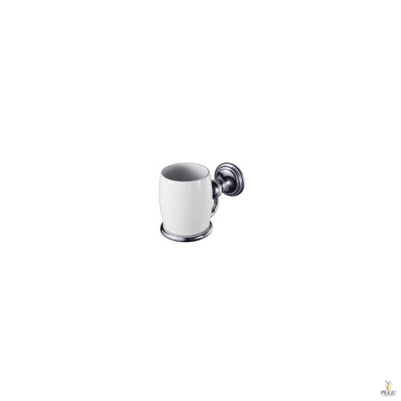 Haceka Allure подставка под стаканчик +1 стакан, керамика/хром