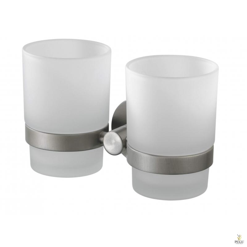 Kosmos стаканчики 2 шт с держателем сталь