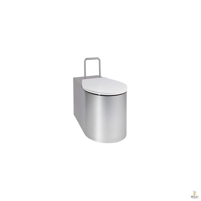Антивандальный унитаз INVA Н/Р сталь