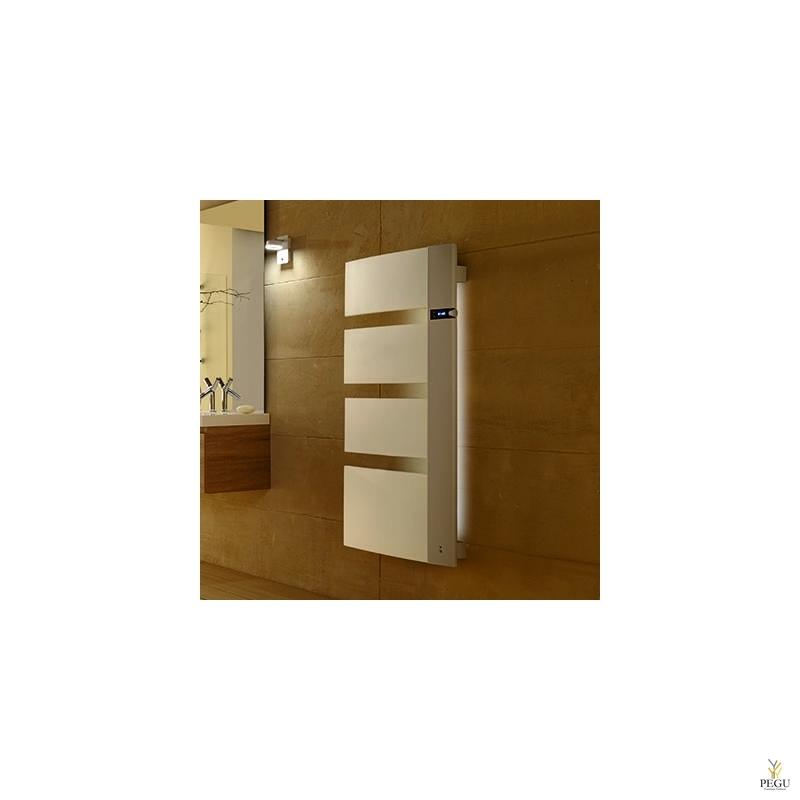 Дизайнерский радиатор-полотенцесушитель  SENSIUM 1750W,  основание справа БЕЛЫЙ