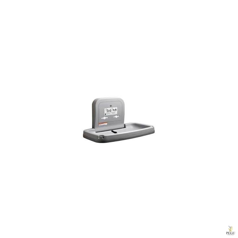 Пеленальный столик, горизонтальный, пластик+Н/Р сталь, настенный