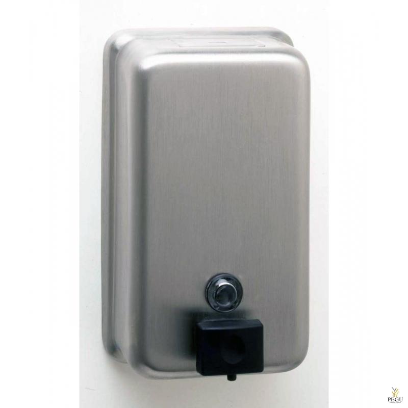 Дозатор для мыла Н/Р сталь 1,2L, вертикальный