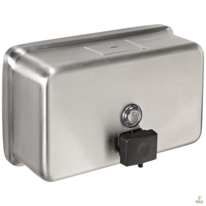 Дозатор для мыла Н/Р сталь 1,2L, горизонтальный