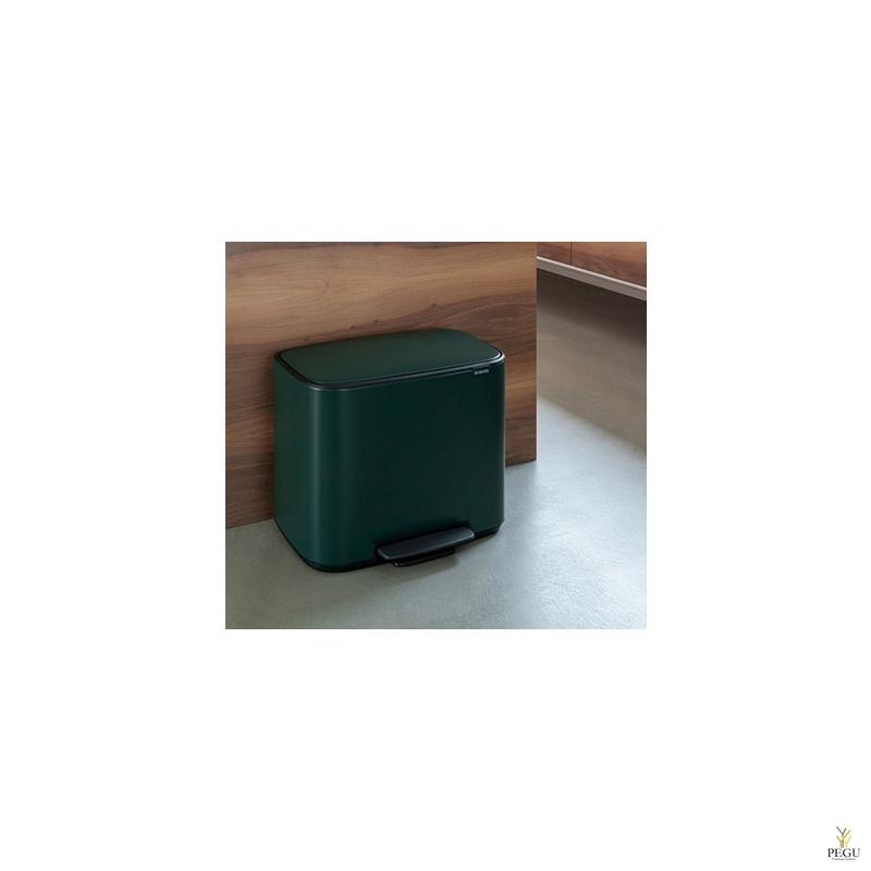 Урна для сортировки мусора с педалью, soft-close Brabantia BO, 3x11L Pine green