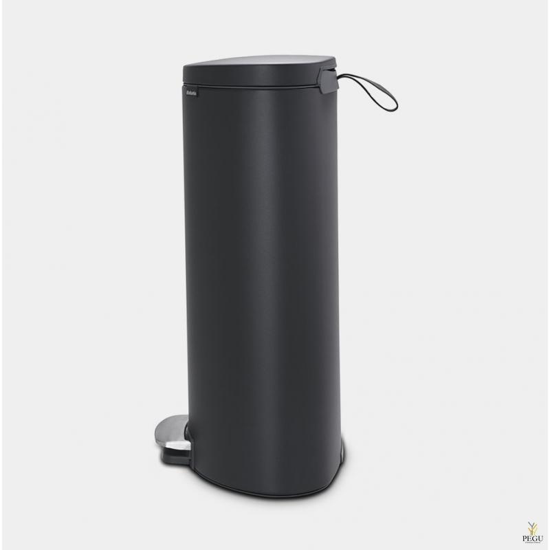 Brabantia FLATBACK+ Урна для сортировки мусора с педалью soft-closed 30L, Mineral Infinite Grey