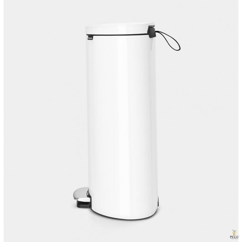 Brabantia FLATBACK+ Урна для сортировки мусора с педалью soft-closed 30L, ,белая