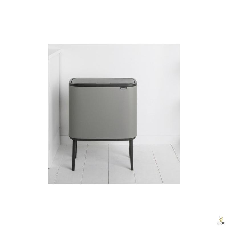 Touch bin sorteerimise prügikast, soft-close Brabantia BO, 11+23L Mineral Concrete Grey