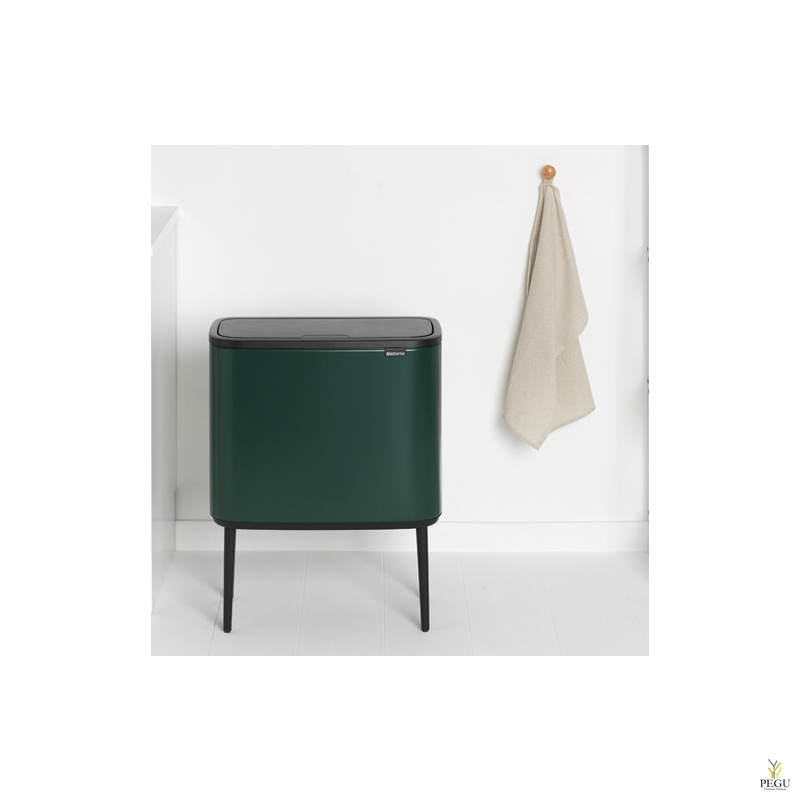 Touch bin sorteerimise prügikast, soft-close Brabantia BO, 11+23L Pine Green