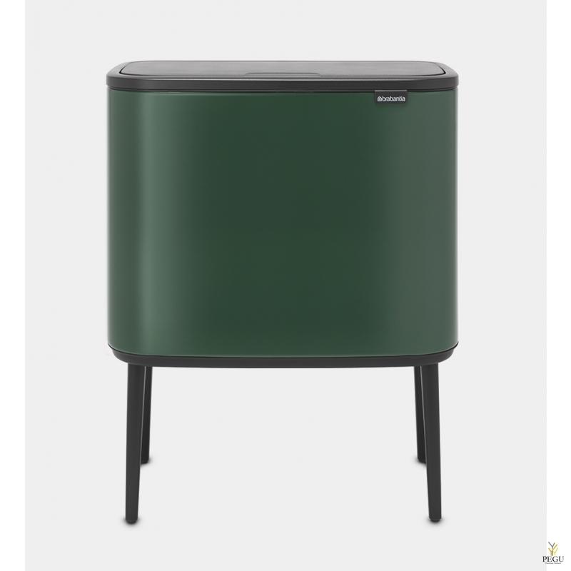 Touch bin sorteerimise prügikast, soft-close Brabantia BO, 3x11L Pine Green