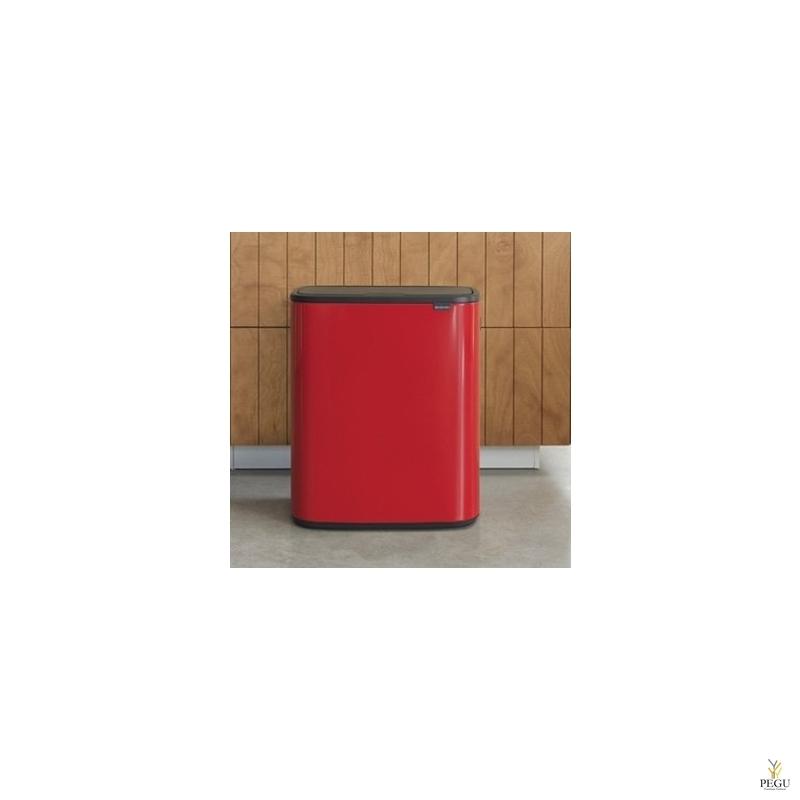 Touch bin prügikast, soft-close Brabantia BO, 60L Passion Punane