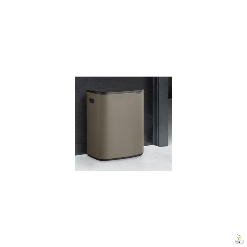 Touch bin prügikast, soft-close Brabantia BO, 2x30L Platinum