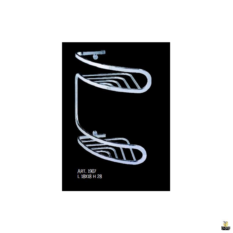 Корзинка для душа 2-я CAOS 180x180x280mm, Хром
