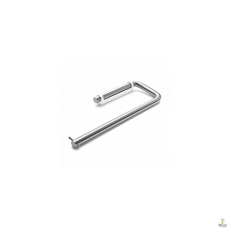 Держатель для хозяйственных полотенец, d14x94x275, белое крепление , AISI316 сатин