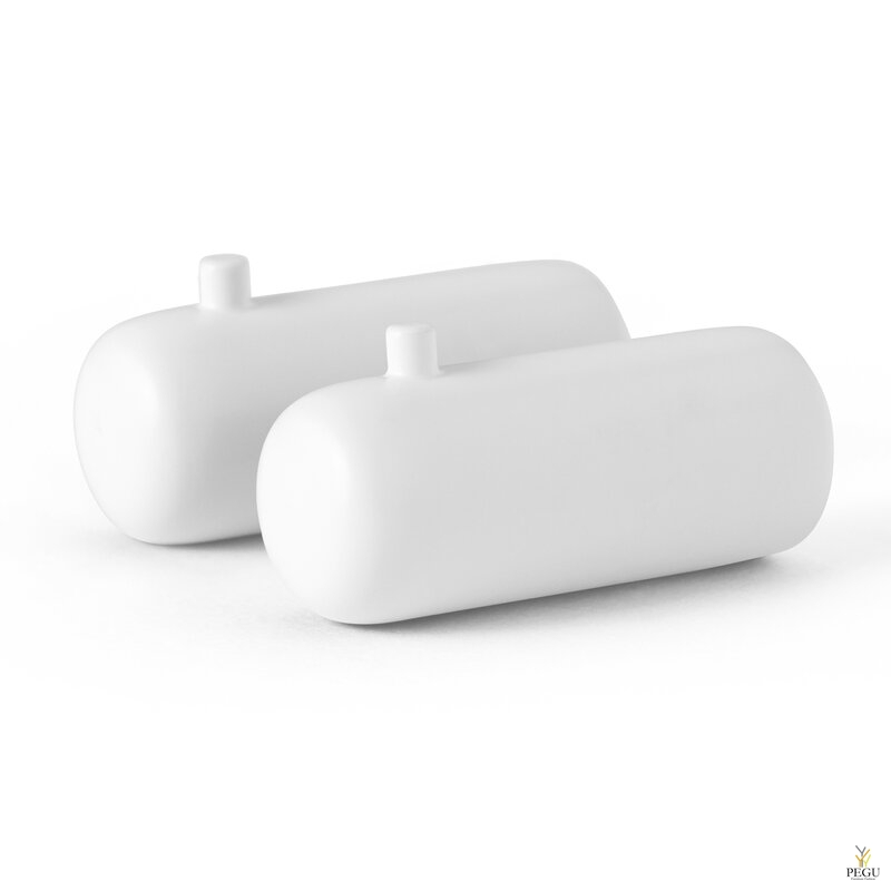 D Line Pebble комплект крючков для халата M 2-шт матовый белый