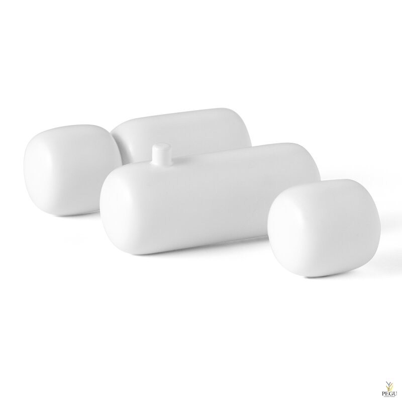 D Line Pebble комплект крючков для халата S, M, L 3-шт матовый белый