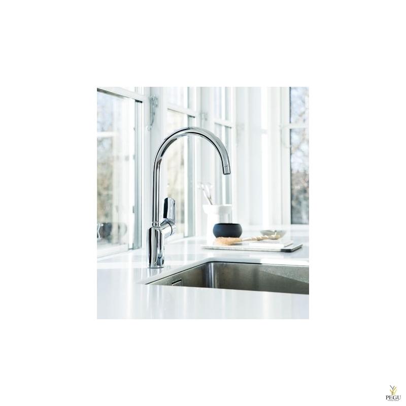 Damixa Clover GREEN 6007000 кухонный смеситель, хром, с высокой трубой NEW 2021