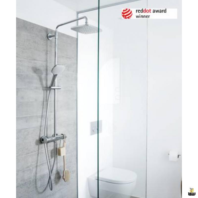 Новинка! Damixa душевой комплект Pine, термостат+ верхний душ+ ручной душ c 1500mm металлическим шлангом