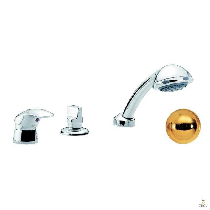 Jupiter смеситель на ванну , 3-компонентный, покрытие латунь , Распродажа !
