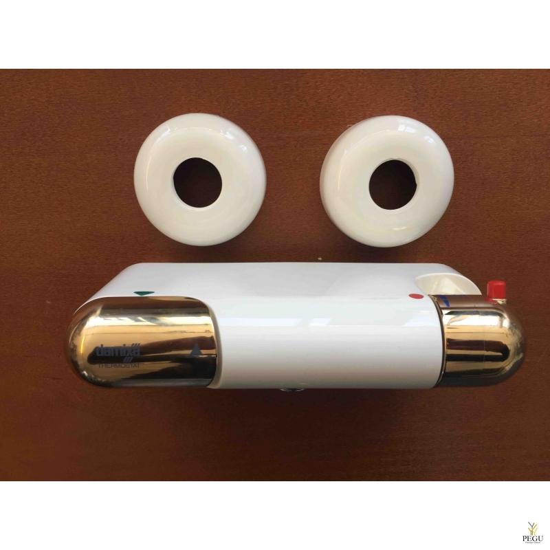 Термостатный смеситель без носика, ,белый -золото, Распродажа !