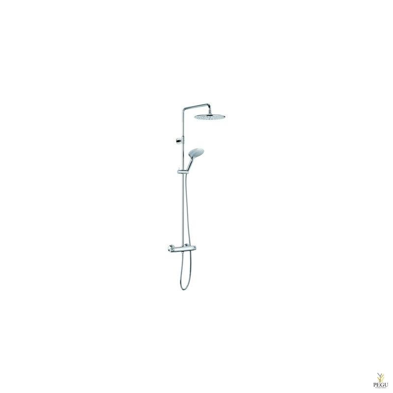UUS! Damixa dušikomplekt Bell, termostaat+üladuš+käsiduš, Easyflex hõbedane voolik