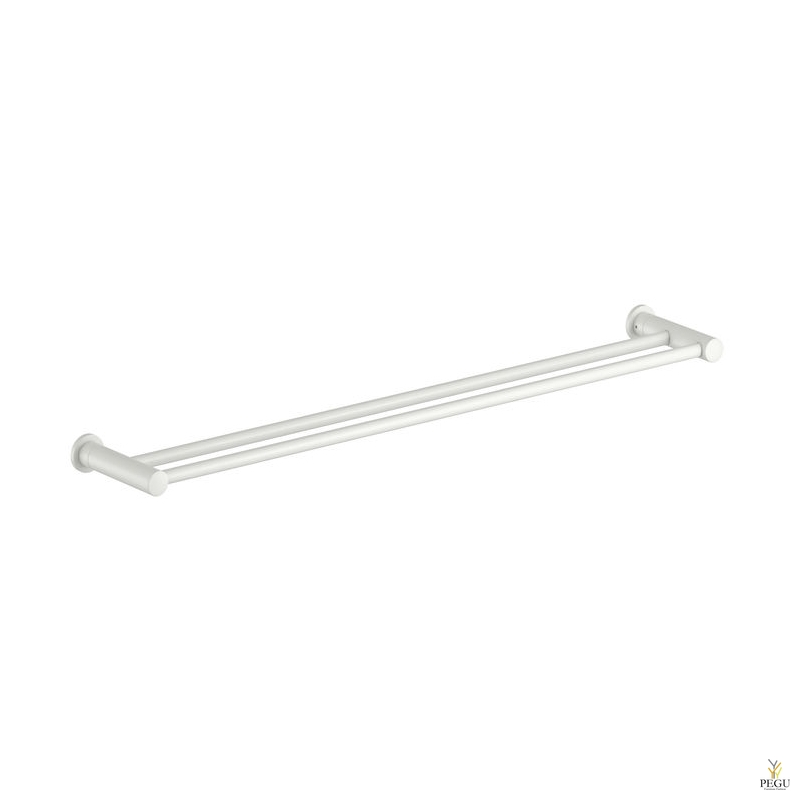 Damixa Silhouet двойное крепление для полотенца 800 mm матовый белый