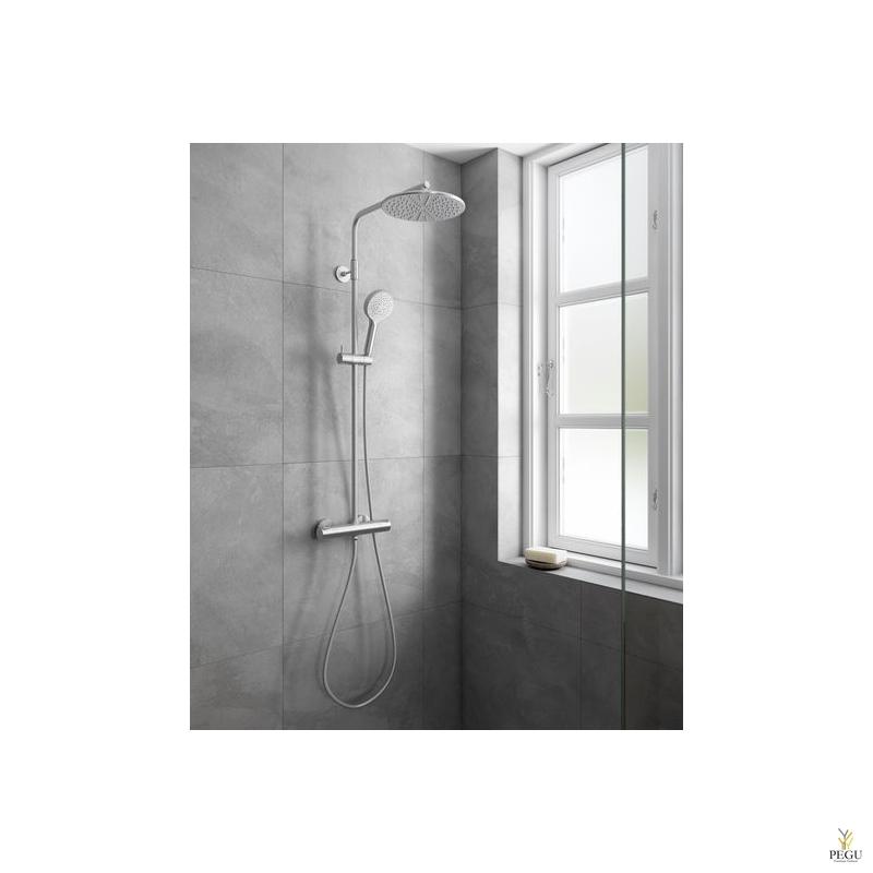 Новинка! Damixa душевой комплект Silhouet, термостат+верхний душ+ручной душ
