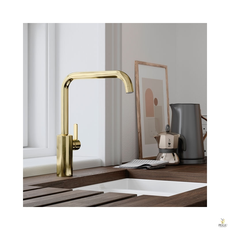 Damixa Silhouet кухонный смеситель с вентилем для стиральной машины золото PVD