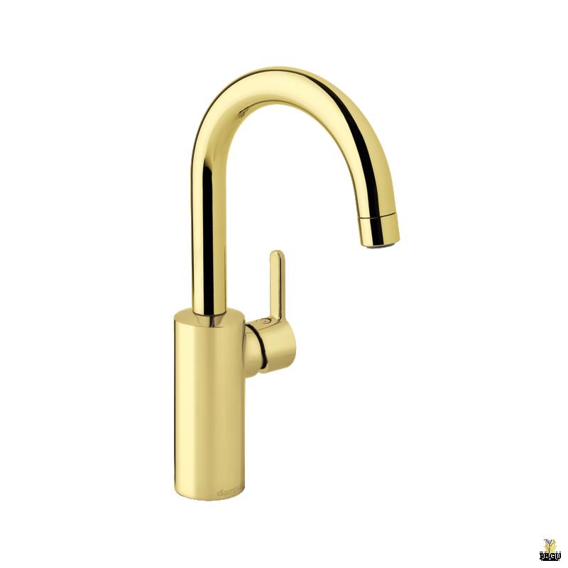 Damixa Silhouet смеситель для раковины PICCOLO с высокой трубкой золото PVD