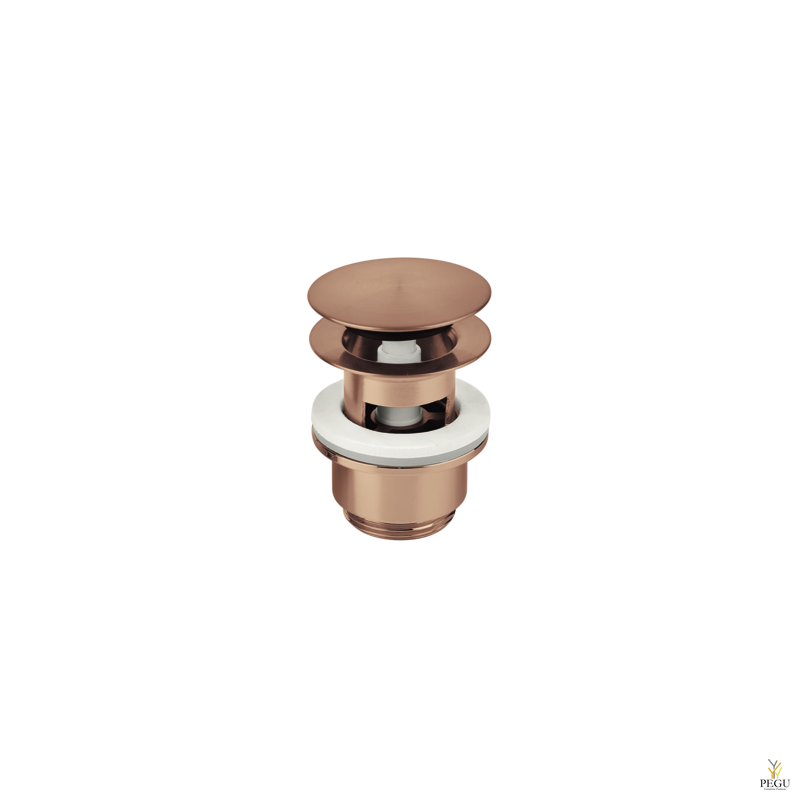 Damixa донный клапан klik-klak, матовая медь