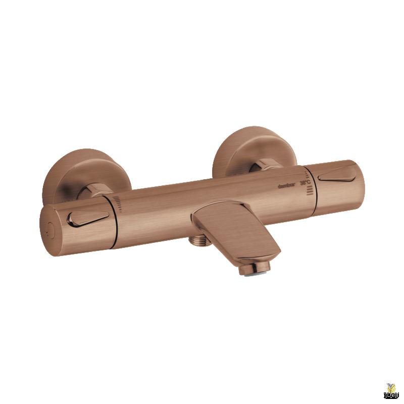 Damixa смеситель термостатный Silhouet матовая медь PVD