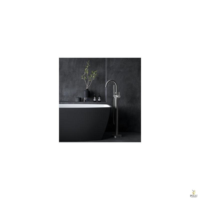 Damixa Silhouet Freestanding свободностоящий смеситель для ванной матовая сталь PVD