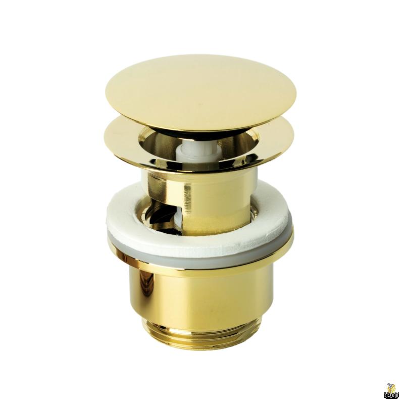 Damixa донный клапан klik-klak, полированная латунь