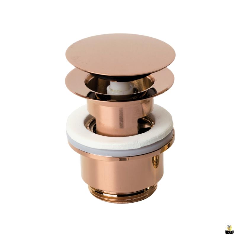 Damixa донный клапан klik-klak, полированная медь
