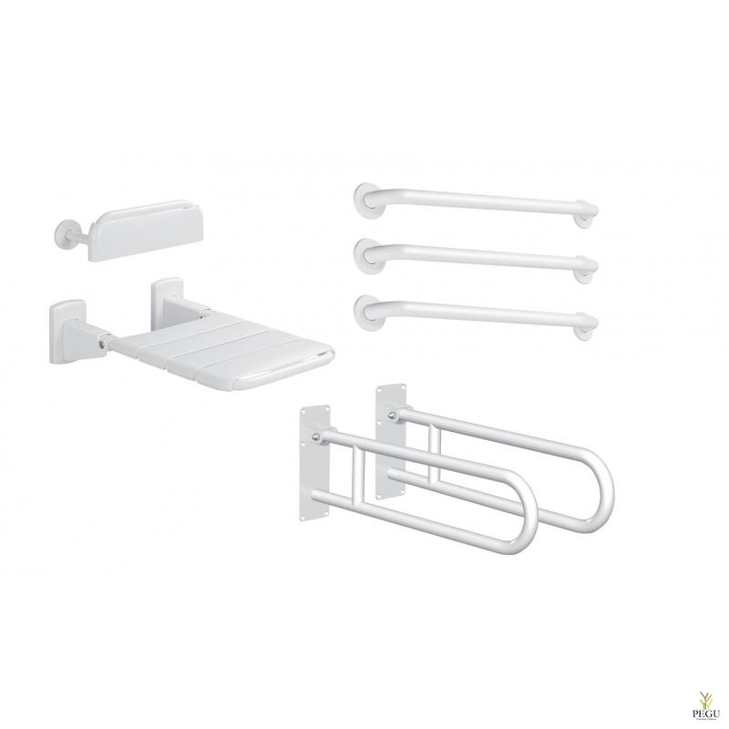 Delabie DOC M Basic dušhi või riietusruumi komplekt valge pulber värv