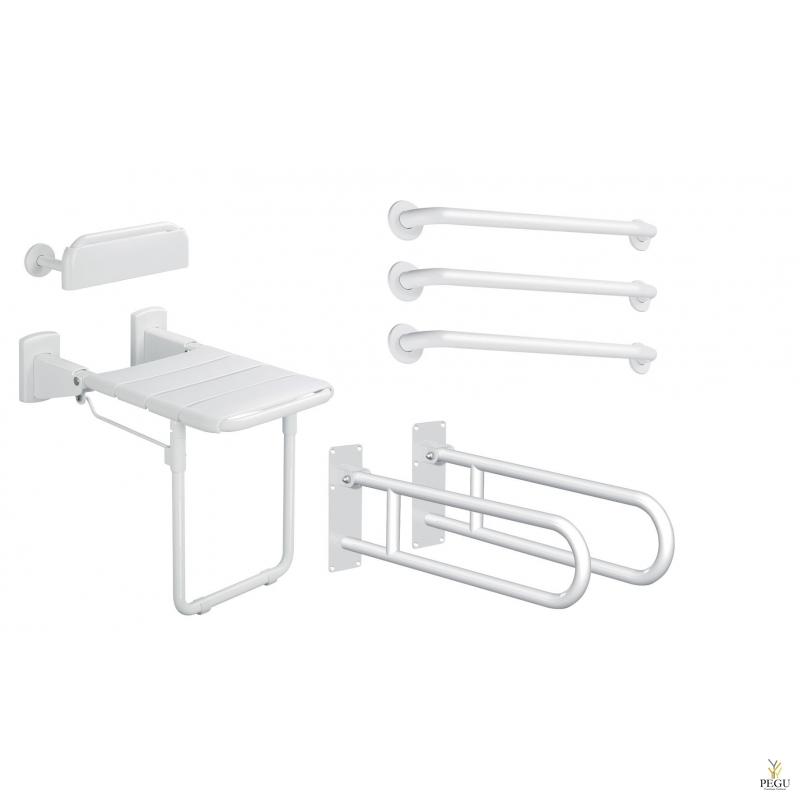 Delabie DOC M Basic инва комплект для душевой и передевалки белый