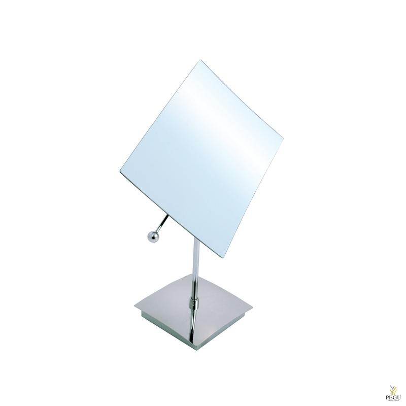 Косметическое зеркало настольное/настенное, 5X увеличение, хром