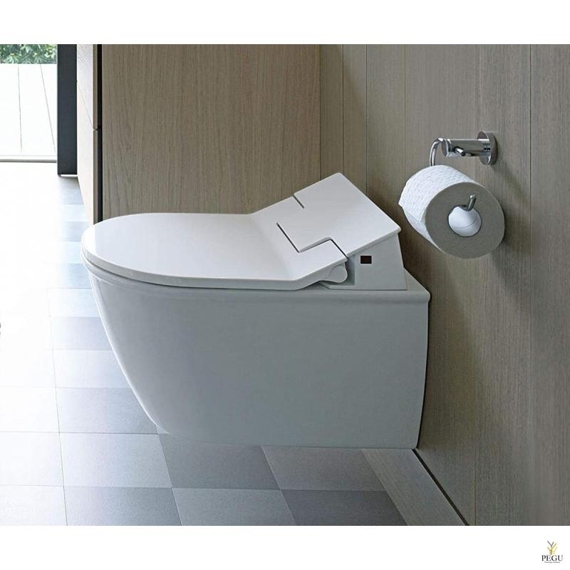 Duravit Me by Starck WC комплект настенный 63100000 белый, SensoWash Slim WC сидение с душем